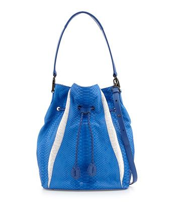 3f10e1903286 Celine Python Suede Bucket Bag