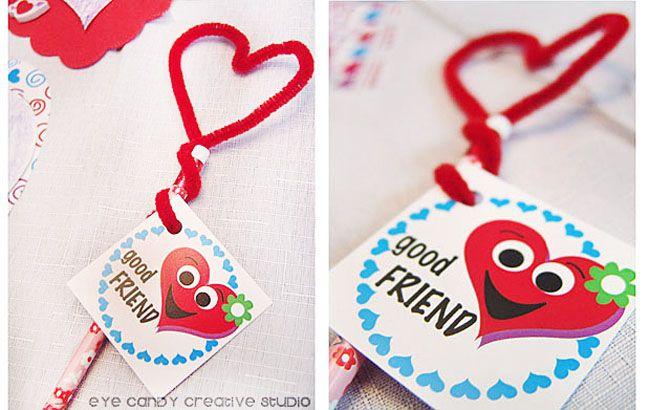 Valentine Pencil Candy Craft