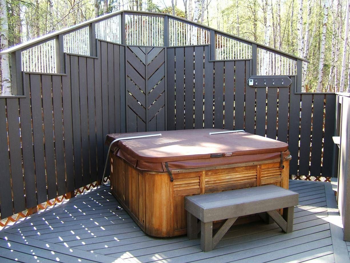 Ordinary Outdoor Privacy Screens For Patios #15: Deck With Privacy Wall