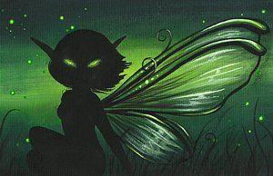 Fantasy Painting - Green Glow by Elaina  Wagner
