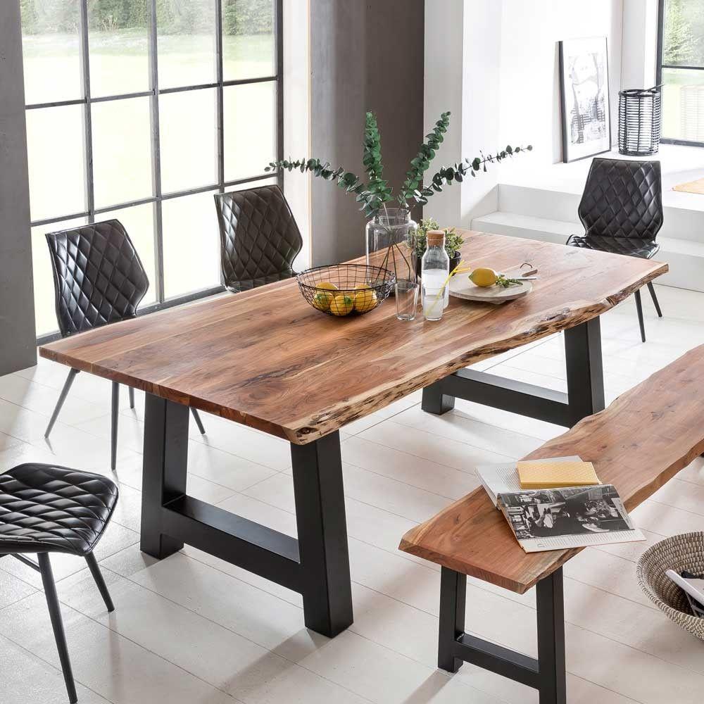 Baumkanten Esstisch Capinera Aus Akazie Kuche Tisch Esszimmertisch Holz Esszimmertisch