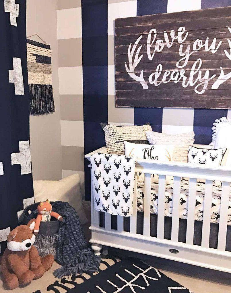 Unique Baby Boy Room Ideas: Love You Dearly Antler Vinyl Decal