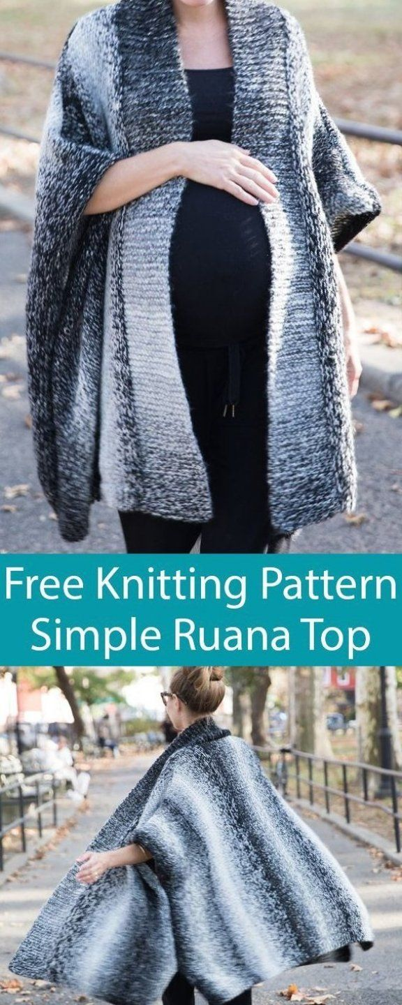 Free Knitting Pattern for Simple Top Ruana - Knit in 4 ...