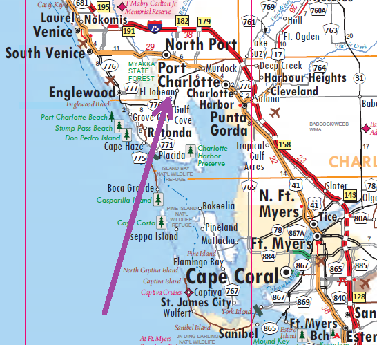 Port Charlotte Florida Map Pin on Things I like