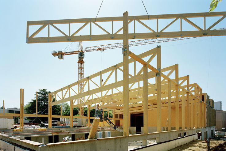 Tectoniques Architects - Hacine Cherifi Gymnasium - wood structure- encavallada fusta