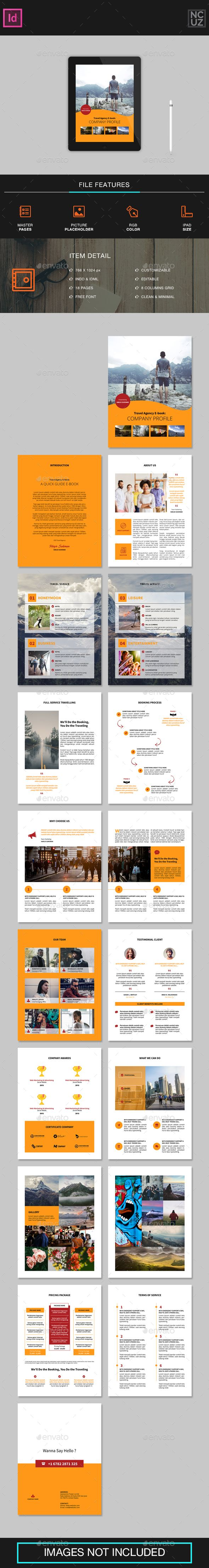 Travel Agency E-book Template   Template, Adobe indesign and Fonts