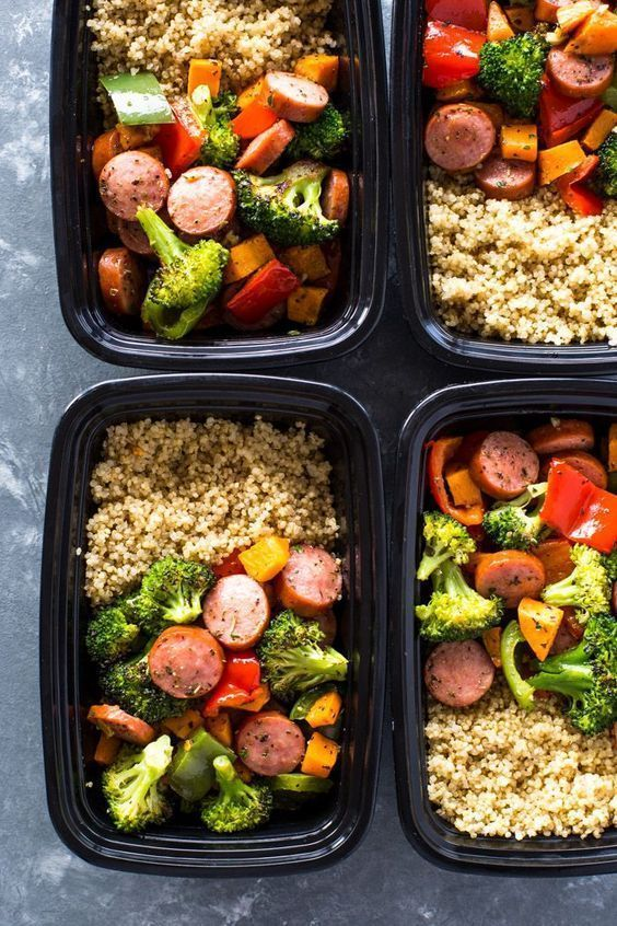 Photo of Quick Meal-prep Sausage Vegetables and Quinoa is healthy, flavorful and full of … – New Ideas