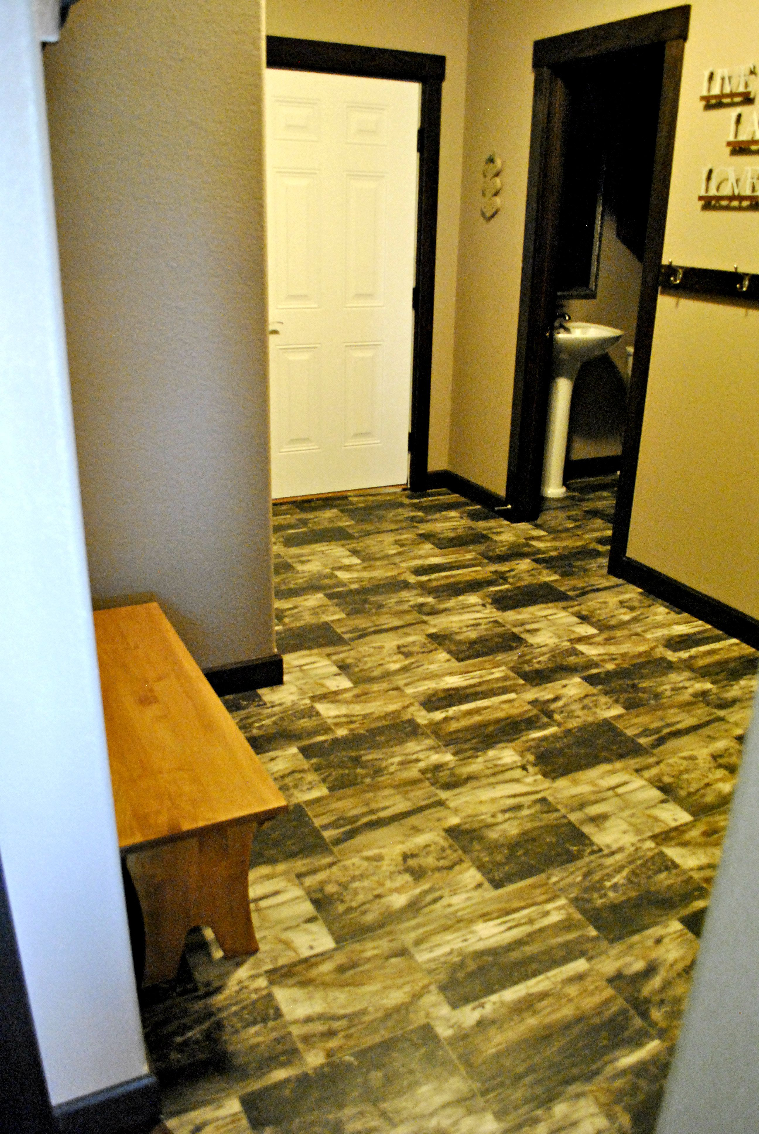 Crazy Wood Pattern Tile Look In Vinyl (very Different And Fun!)