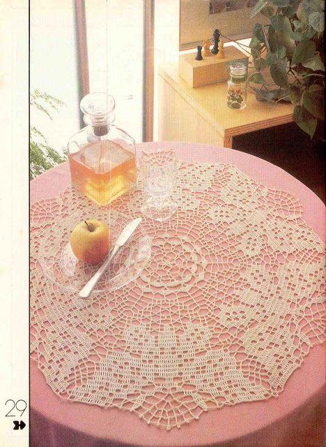 Filet Crochet 'Butterfly Centerpiece' - see free pattern/ chart
