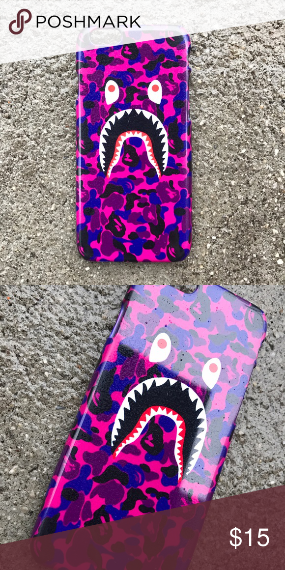 huge selection of fc3d1 8c75e Purple Bape Shark Case for any iPhone!! Brand New in the packaging ...