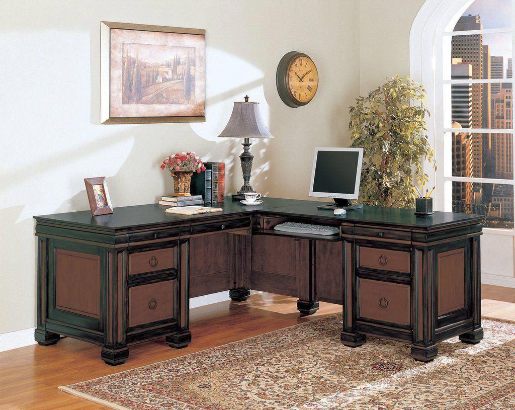 Office desk espresso red brown homeofficefurniture