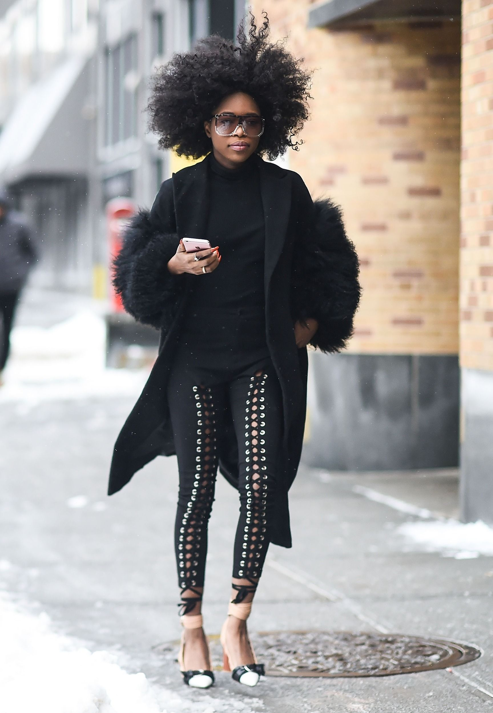 Street style from nyfw teaches us the appropriate blizzard attire