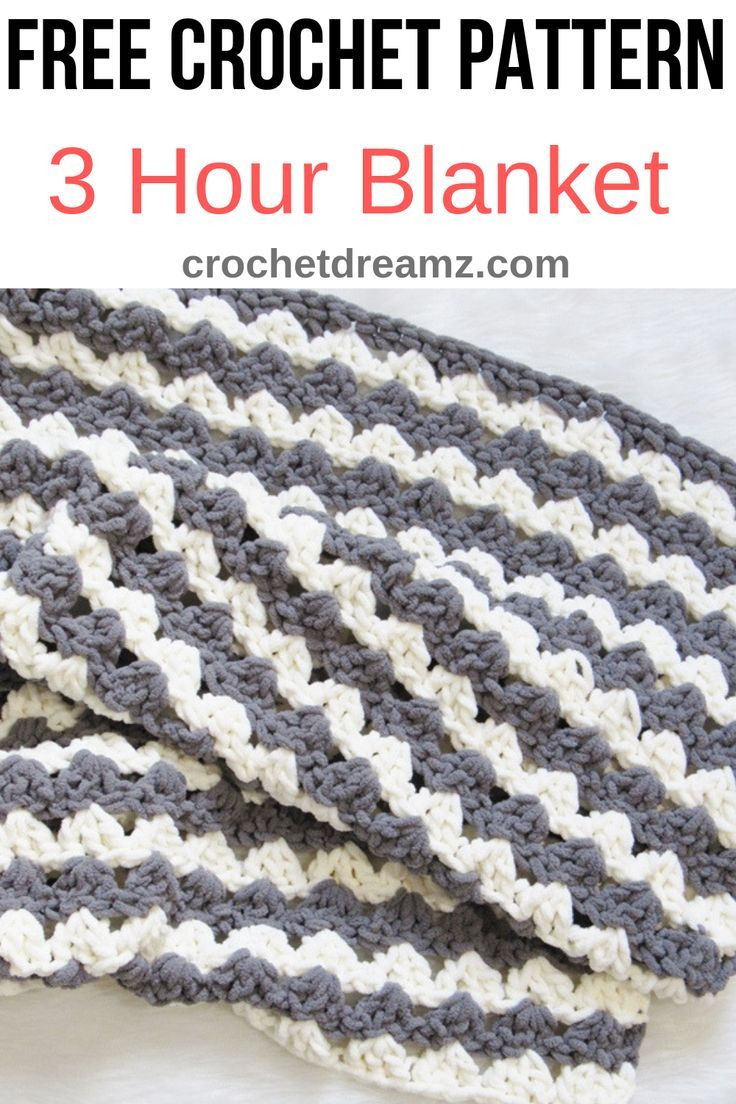 Free Crochet Blanket Pattern, 3 Hour Afghan - Crochet Dreamz