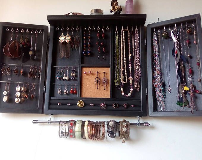 Jewelry organizer. earrings holder. jewelery rack necklace holder ...