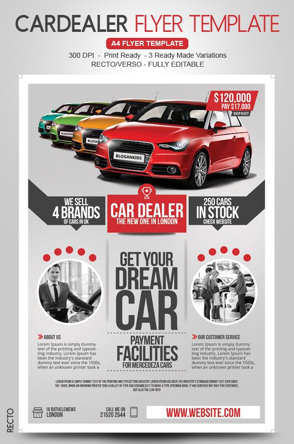 Auto Sales Flyer Template  Flyer Design    Sale Flyer