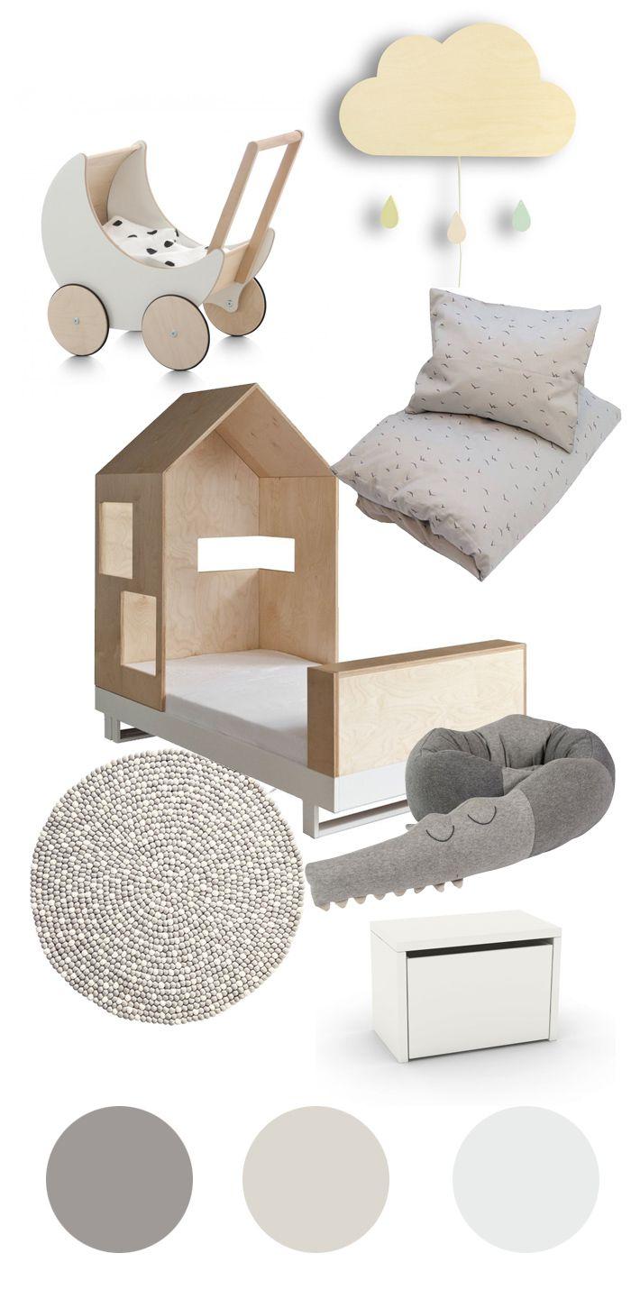 Natürliche Farben fürs Kinderzimmer grau, beige, weiß