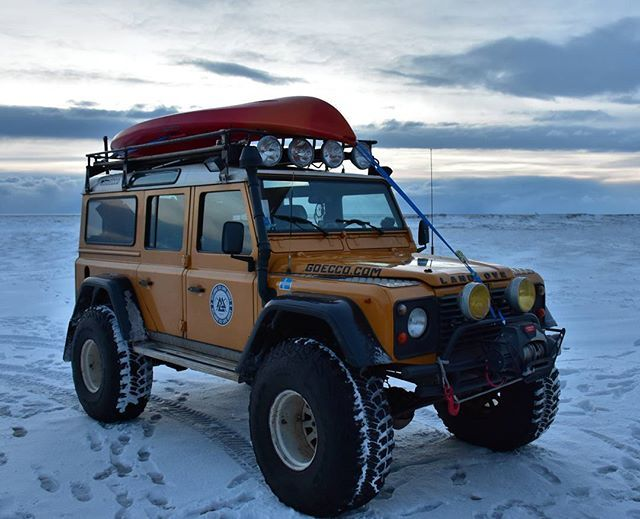 supertrucks of iceland land rover defender ploughs. Black Bedroom Furniture Sets. Home Design Ideas