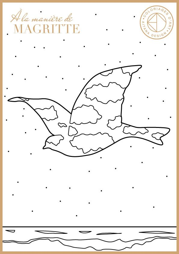 rene magritte coloring pages - photo#21