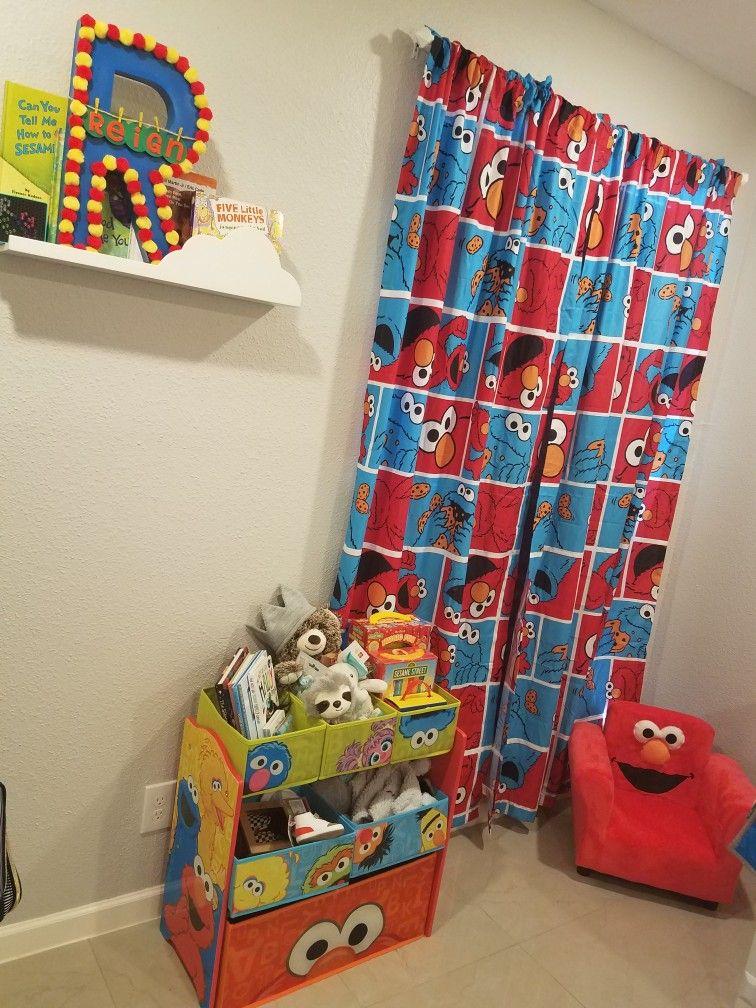 Sesame Street Bedroom Nursery Decor Elmo Cookie Monster Sesame Street Bedroom Sesame Street Room Elmo Bedroom