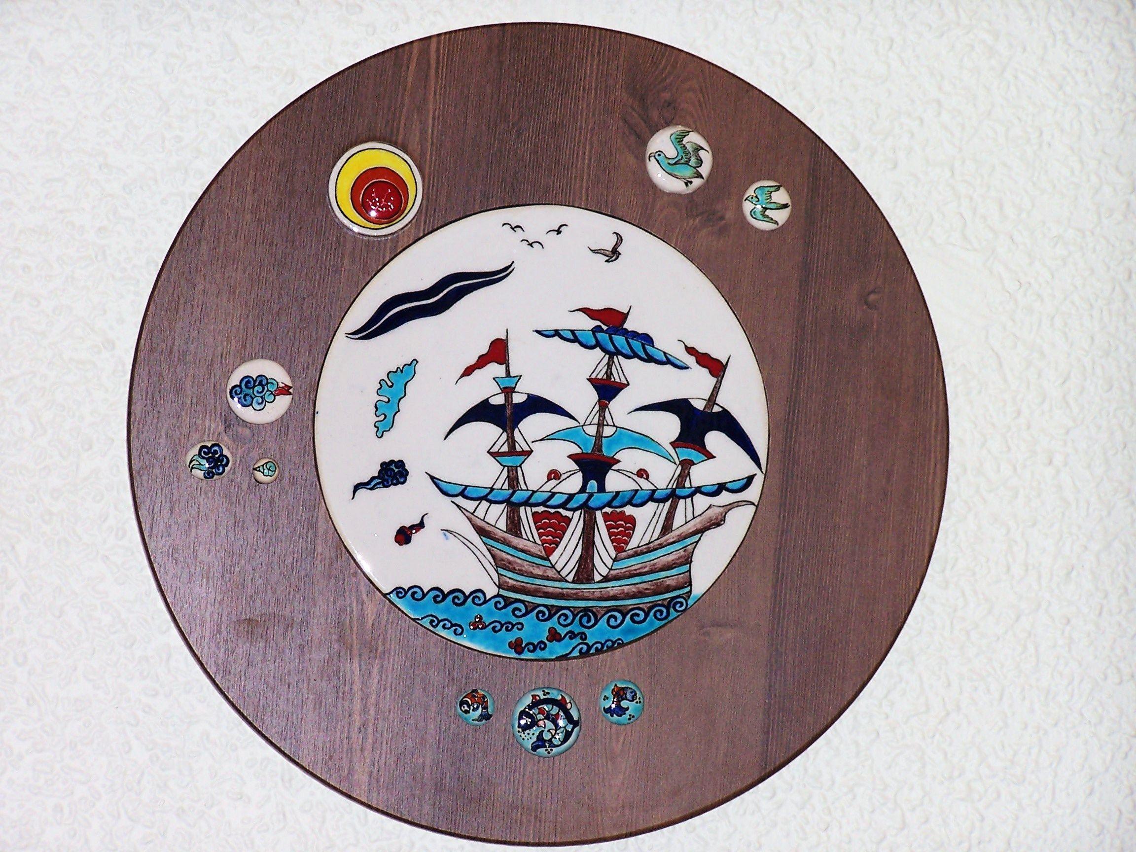Ceramic picture hand made by Ulku Kulac