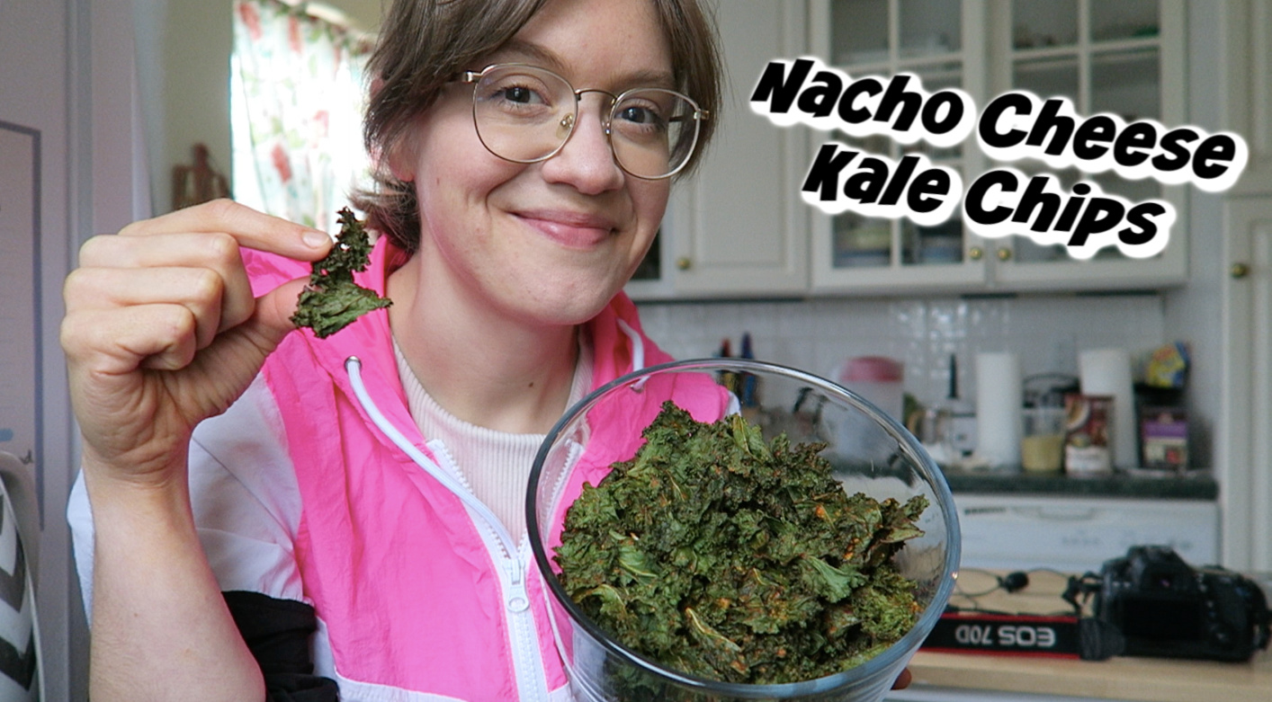 Nacho Cheese Kale Chips Oil Free Vegan Easy In 2020 Kale Chips Nacho Cheese Kale