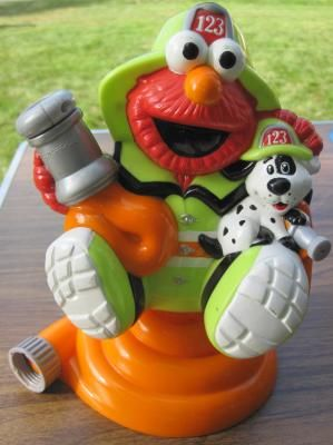 Fireman Elmo sprinkler