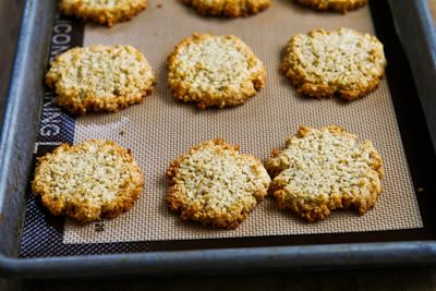 Low Sugar Gluten Free Coconut Almond Macaroon Cookies Recipe