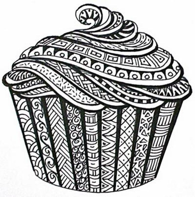 Muffin Dessin Dessin De Cupcake Dessins Zentangle Et