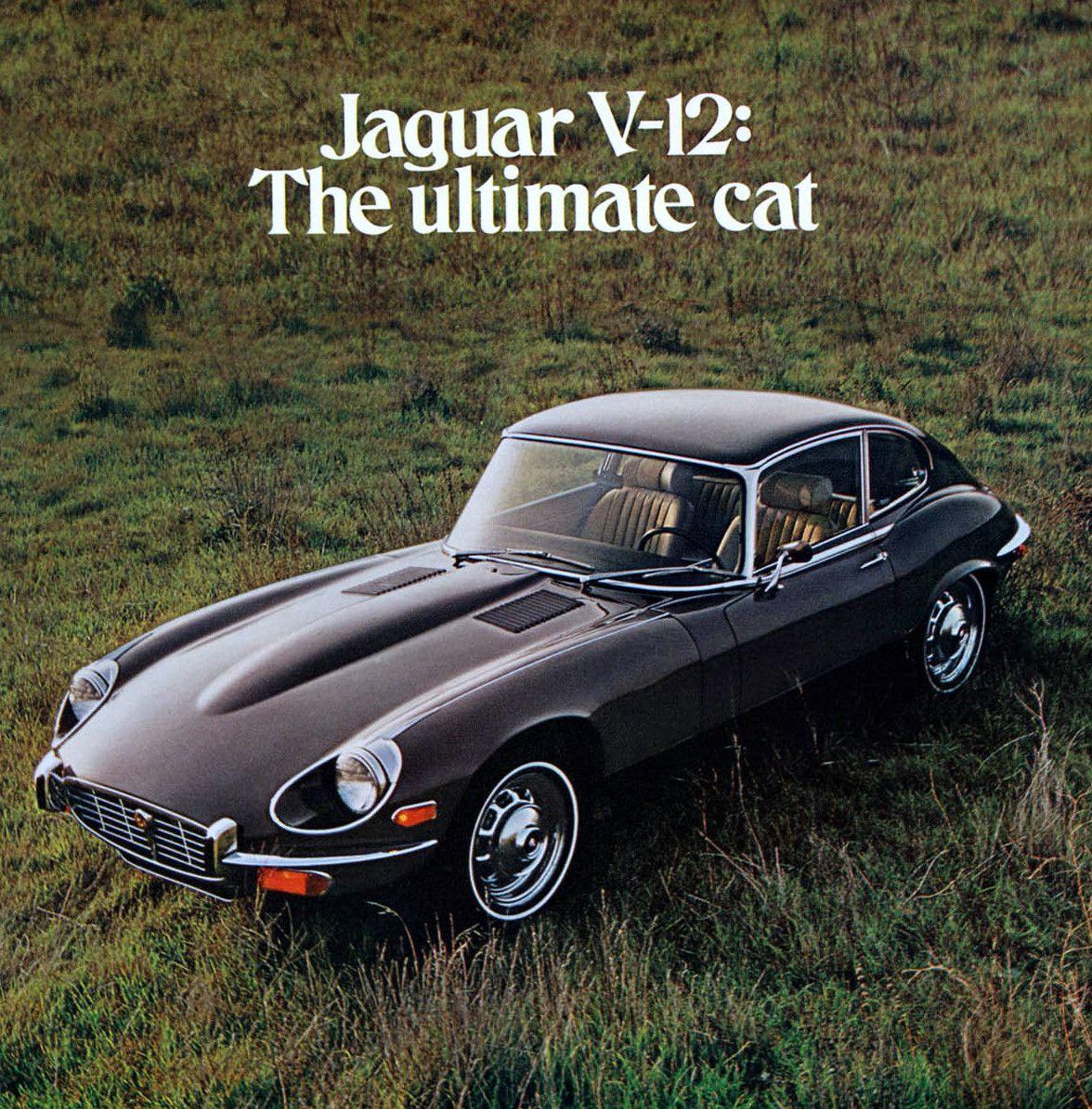 1972 jaguar v12 e type coupe advertisement