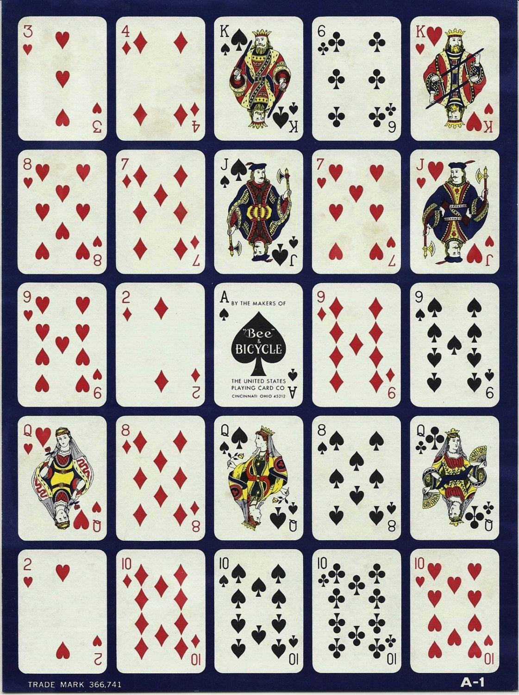2 vintage pokeno cards paper ephemera mixed by