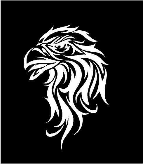 TRIBAL DECAL EAGLE HEAD CAR TRUCK WALL HOOD BACK WINDOW VINYL GRAPHICS