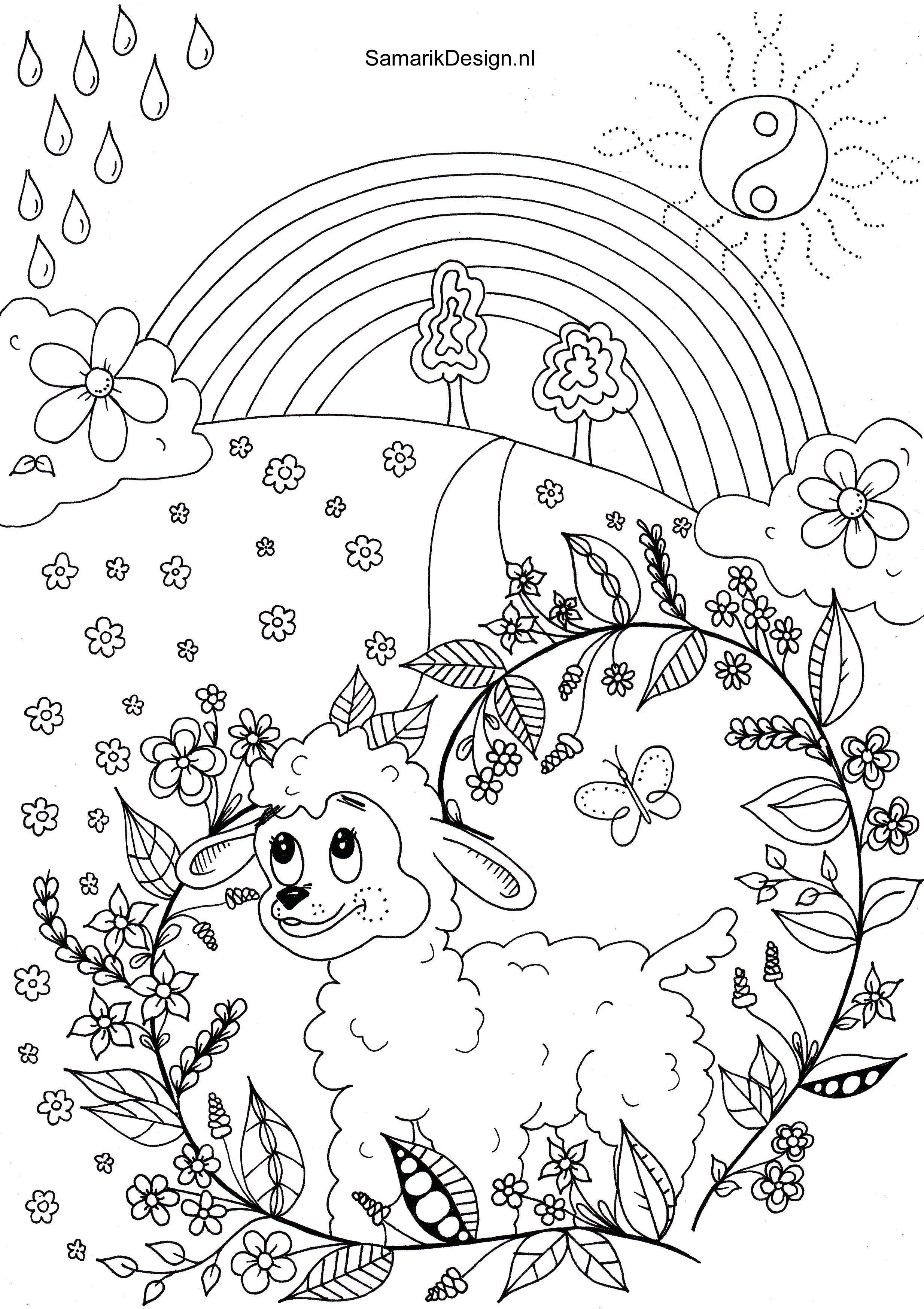 Pasen Lente Doodle Kleuren Kleurplaten Kleurplaten Voor Volwassenen
