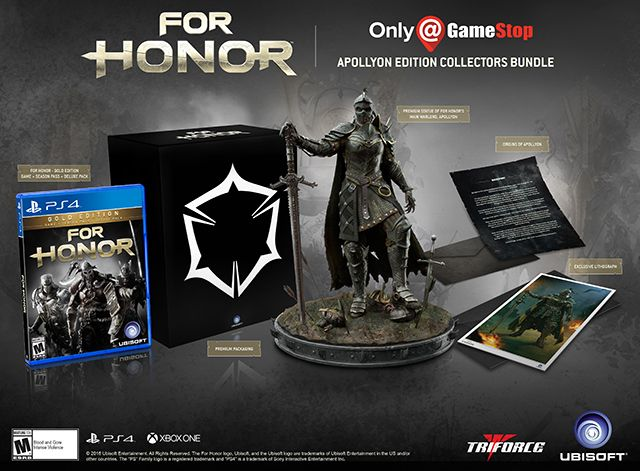 For Honor Apollyon Collector S Edition Gamestop Exclusive With