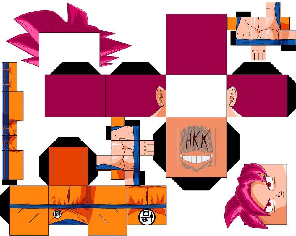 Goku Ssjg Redo By Hollowkingking On Deviantart Goku Ssjg Goku Paper Toys