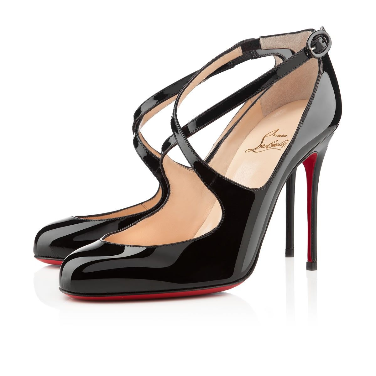 All You Need is Love And Christian Louboutin Viva Dita 100mm Mary Jane Pumps  Black ELZ