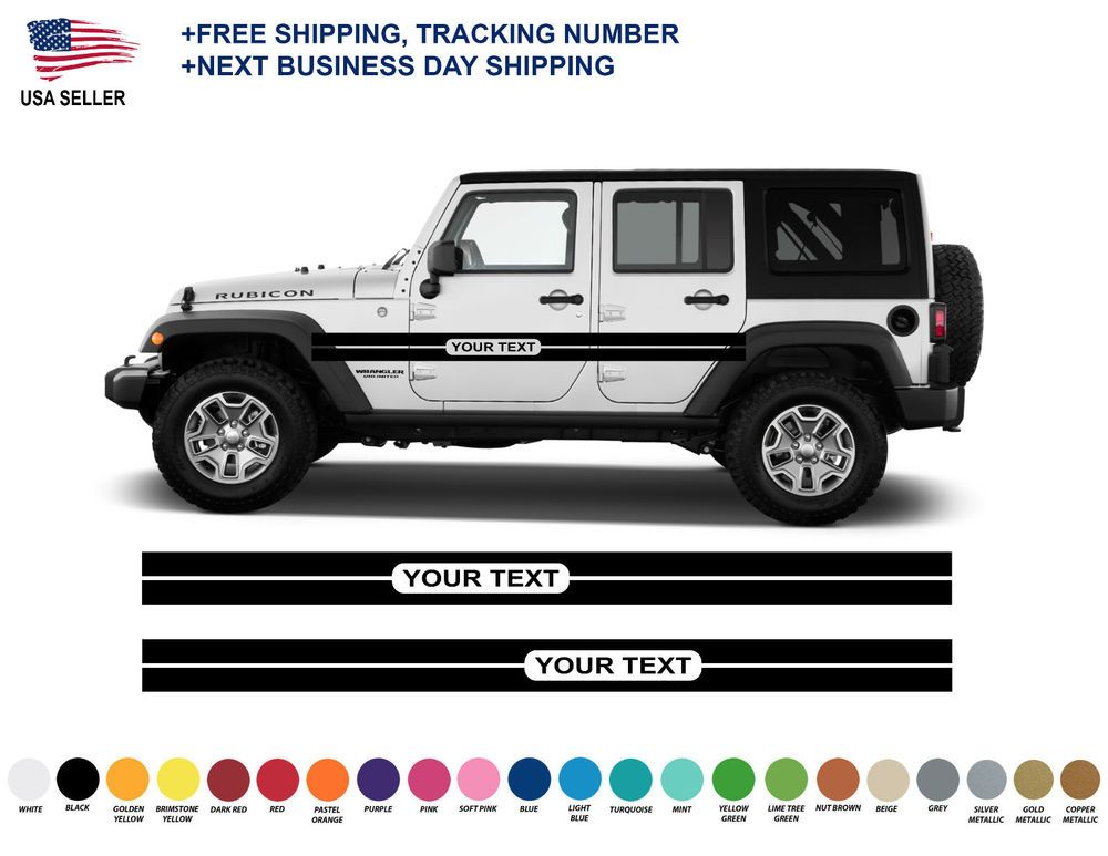 Details About 0405 Jeep Wrangler Rubicon Stripes Decal Graphic Jk Jku Side Vinyl Racing Jeep Wrangler Rubicon Jeep Wrangler Wrangler Rubicon