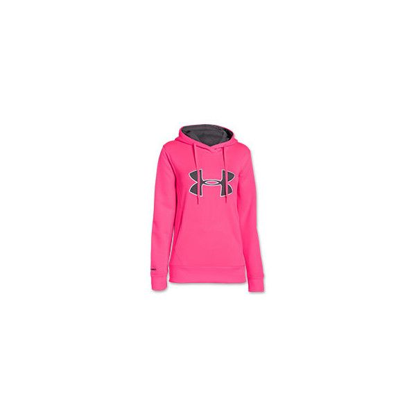 Women's Under Armour Big Logo Applique Hoodie ($30) ❤ liked on Polyvore featuring activewear, activewear tops, under armour sportswear, bodycon two piece, logo sportswear, under armour and athletic sportswear