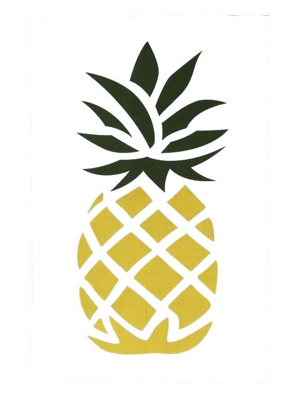 publi rédac (With images)   Pineapple art, Stencils, Prints  Cute Pineapple Stencil