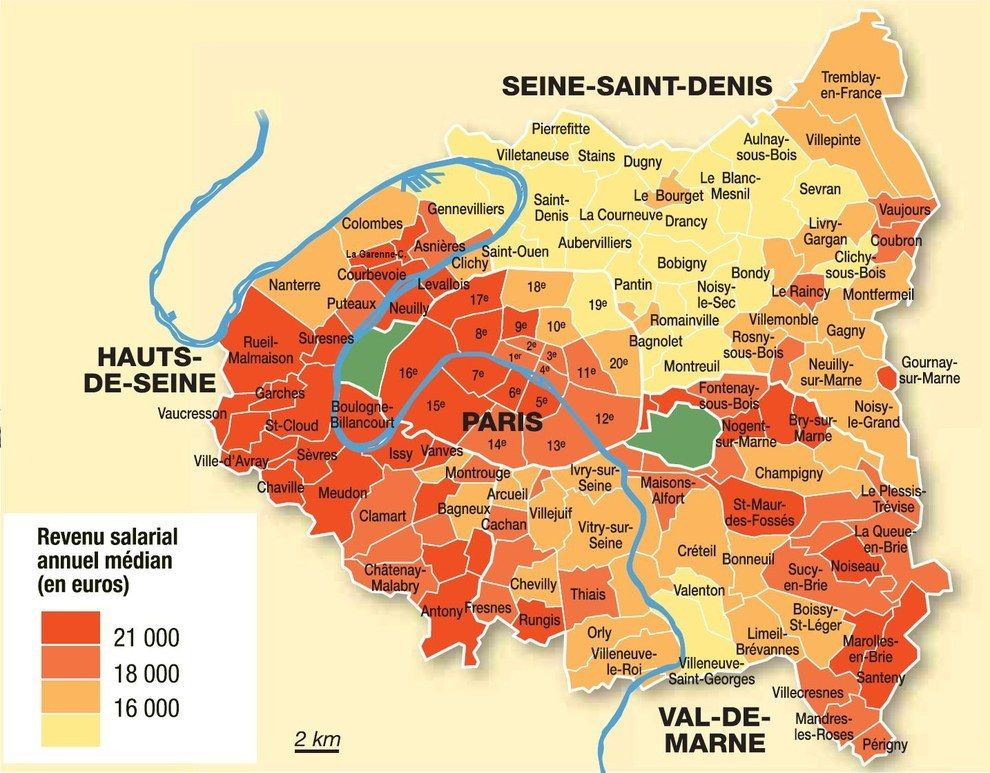 carte banlieue parisienne