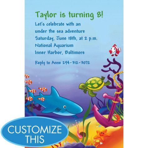 Deep sea fun custom invitation boys birthday invitations custom party supplies deep sea fun custom invitation boys birthday invitations custom invitations invitations categories stopboris Image collections