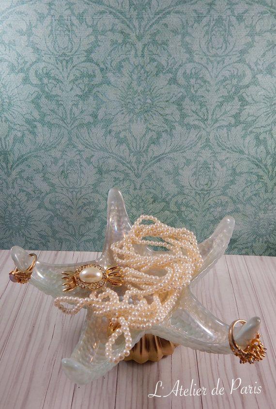 Starfish Ring Holder Ocean Inspired Jewelry Holder Nautical Ring