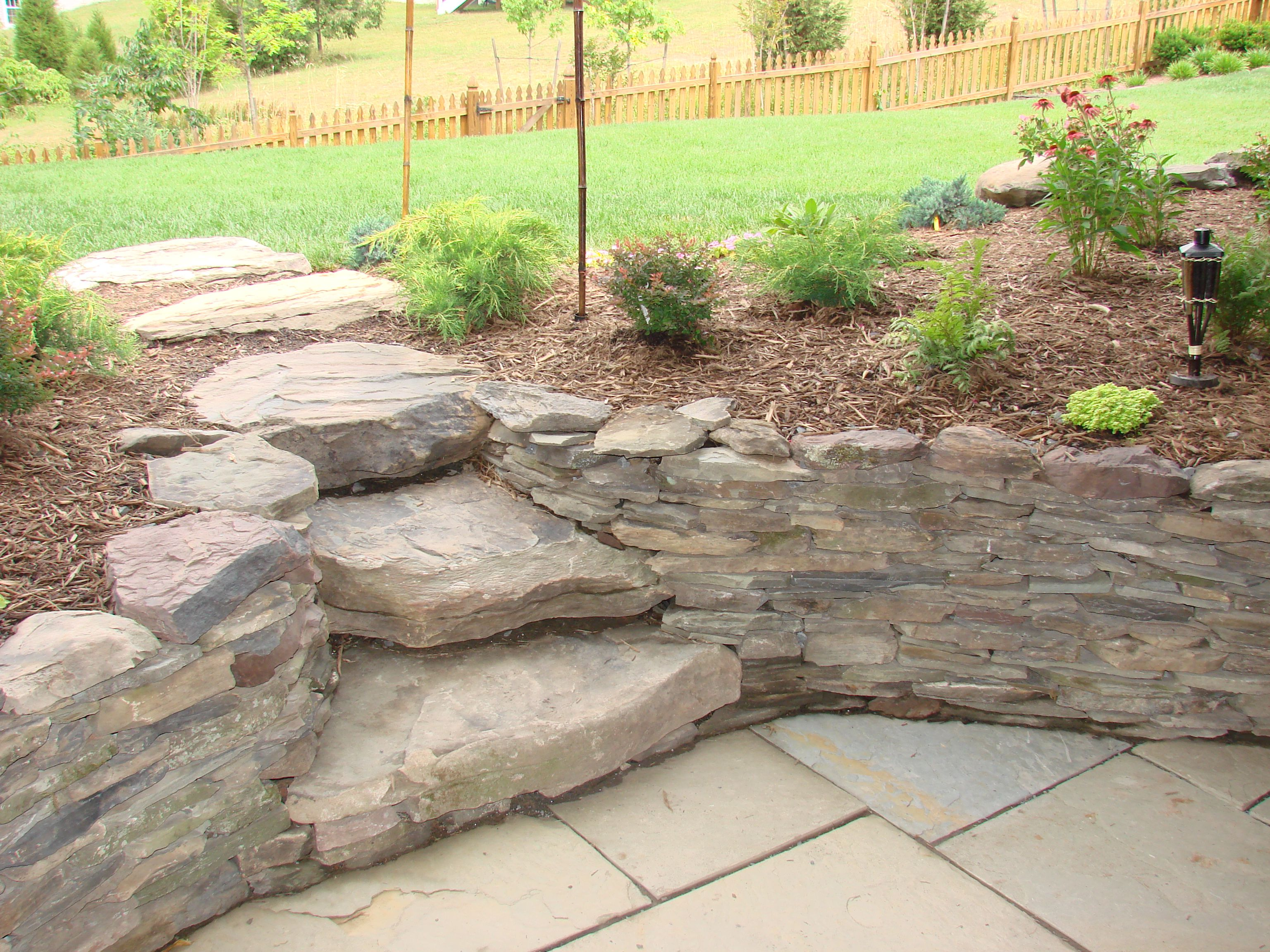 these stone steps allow for easier access in elevation changes