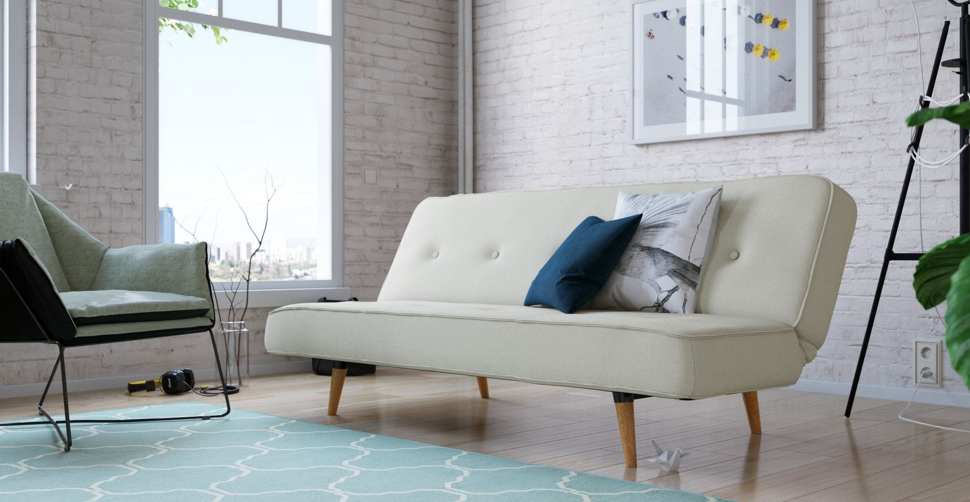 Slumber 3 Seater Sofa Bed