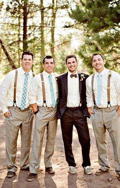 Rustic Fall Wedding Men