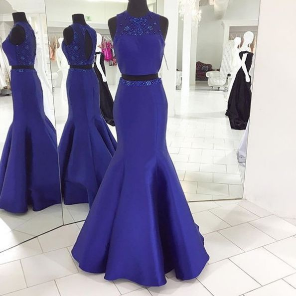179 USD.Royal Blue Prom Dresses,Satin Evening Dress,Long Prom Dresses,Two Pieces Prom Dresses,Mermaid Evening Dresses,Long Formal Gowns,Prom Dresses Plus Size,Prom Dresses Open Back