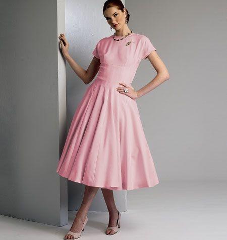 V8999 VOGUE Vintage Schnittmuster Kleid 50er Jahre | Schnittmuster ...