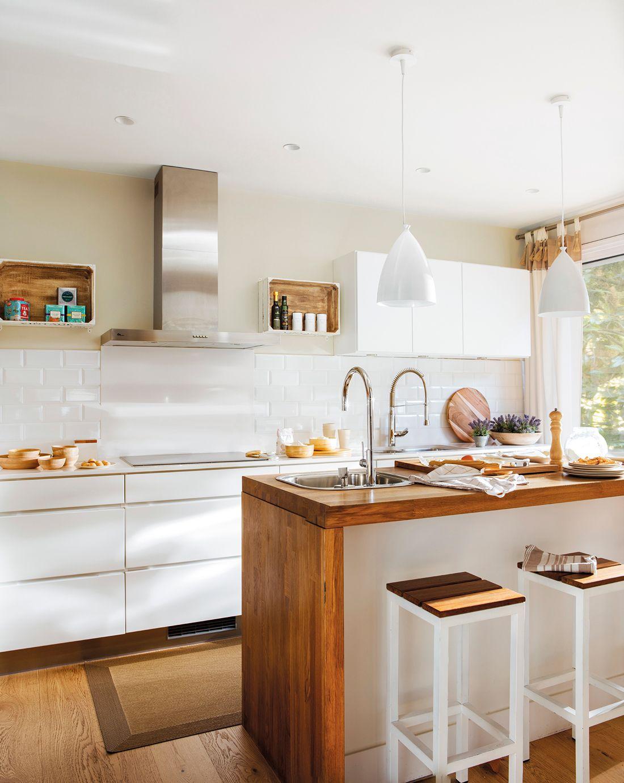 Blanco madera cocinas en 2019 cocinas blancas - Cocinas blancas ...
