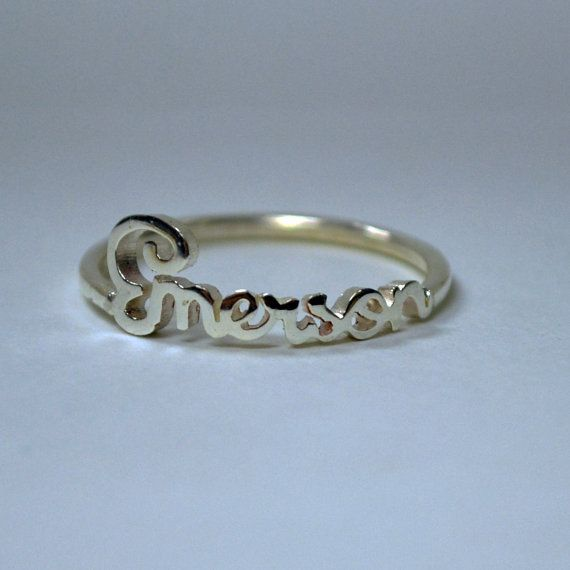 Personalized Handwriting Ring Sterling Silver Any by bigEjewelry