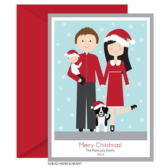 Custom Holiday Card, Happy Santa Hat Printable Card