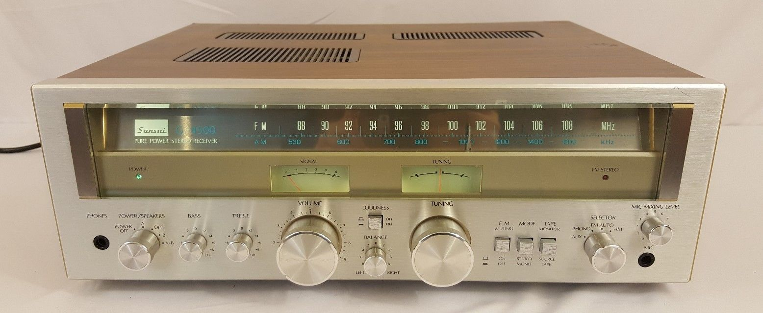 Details about Sansui G-4500 Pure Power Stereo Receiver Not Working